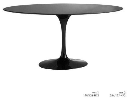 Hugo Alvar trumpet base table Black