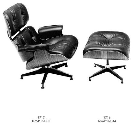 Charles Eames easy chair and foot rest