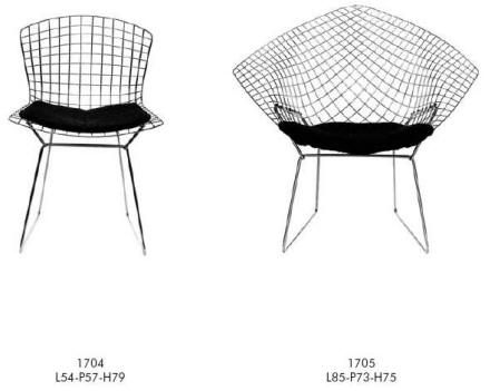 Frank Lloyd Wright mesh chairs