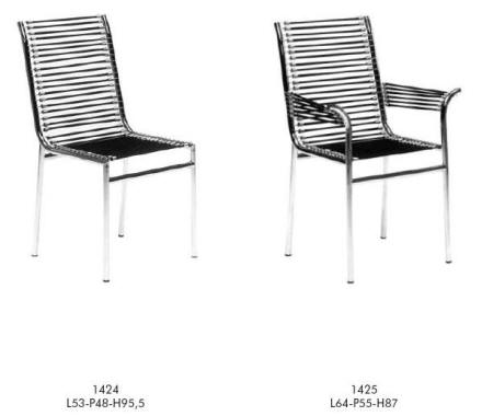 René Herbs chairs in Chrome Frame and Spring supports