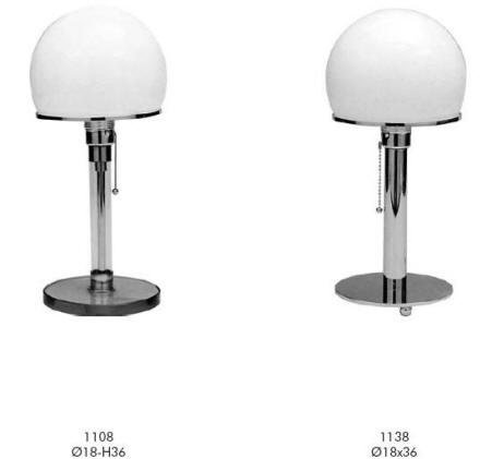 Shaker, Wilhelm Wagenfeld Desk Lamps