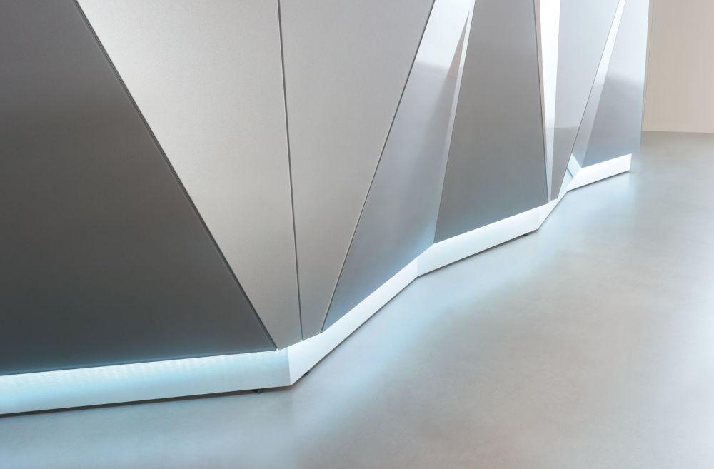 Alpa Reception Desk down lighting