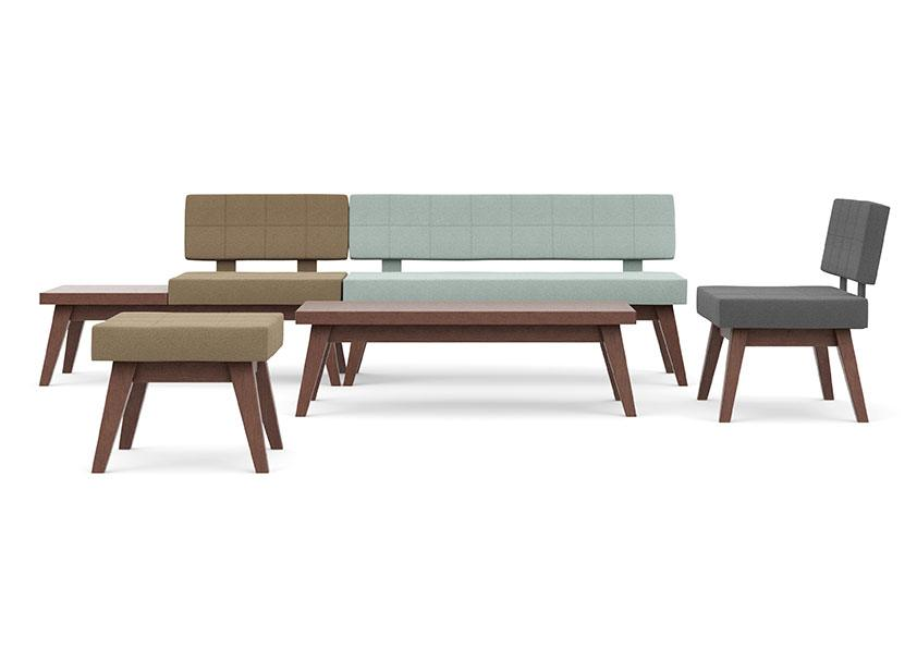 Xross is a range of benches sofas, soft seats