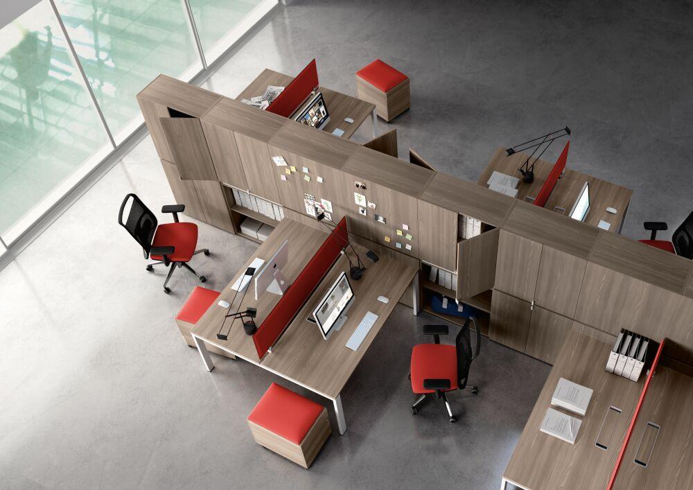 Legodesk bench workstation