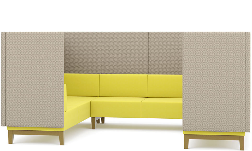 fence corner sofa office meeting booth