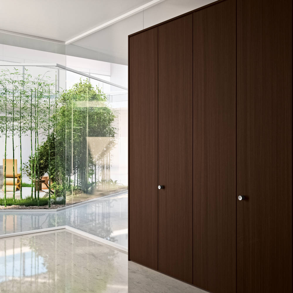 habitat 50 Storage wall and glazed paneled wall