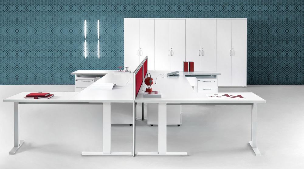 Kompas Desk range with storage