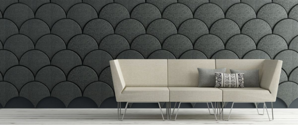 acoustic wall art and coloured mounted panels