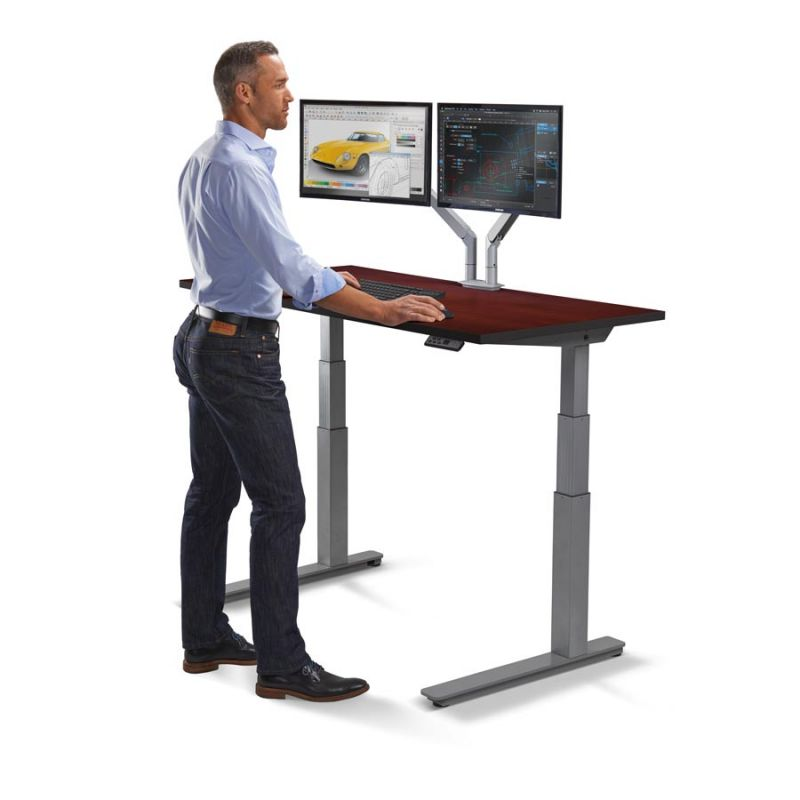 sit stand up desk cherry