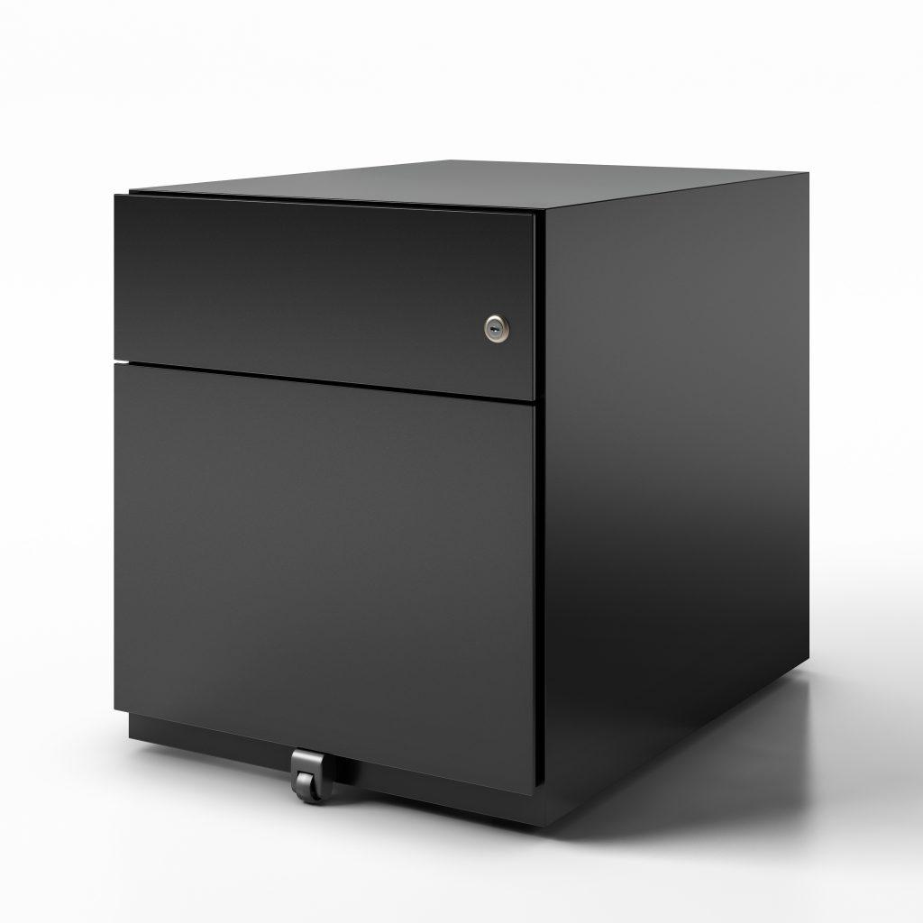 pedestal box file finish black