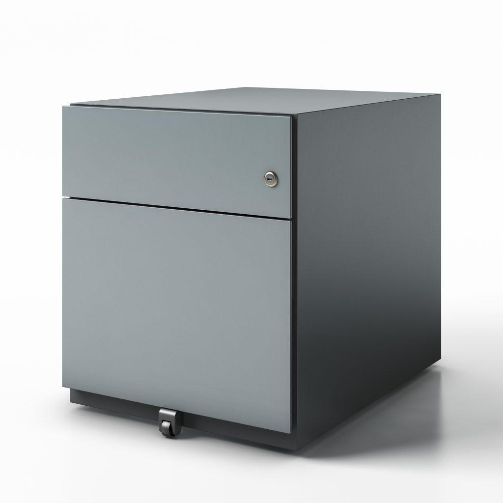 pedestal box file finish dark grey