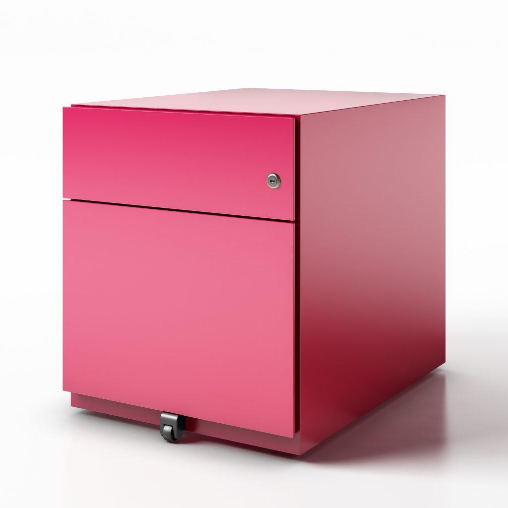 pedestal box file finish pink