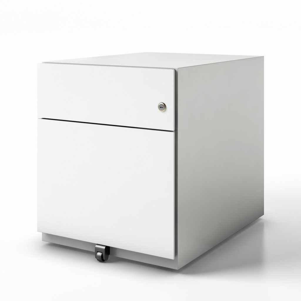 pedestal box file finish white
