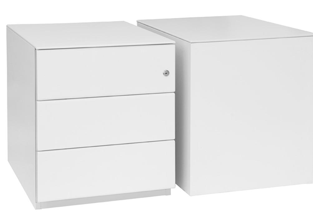 pedestal box file finish off white