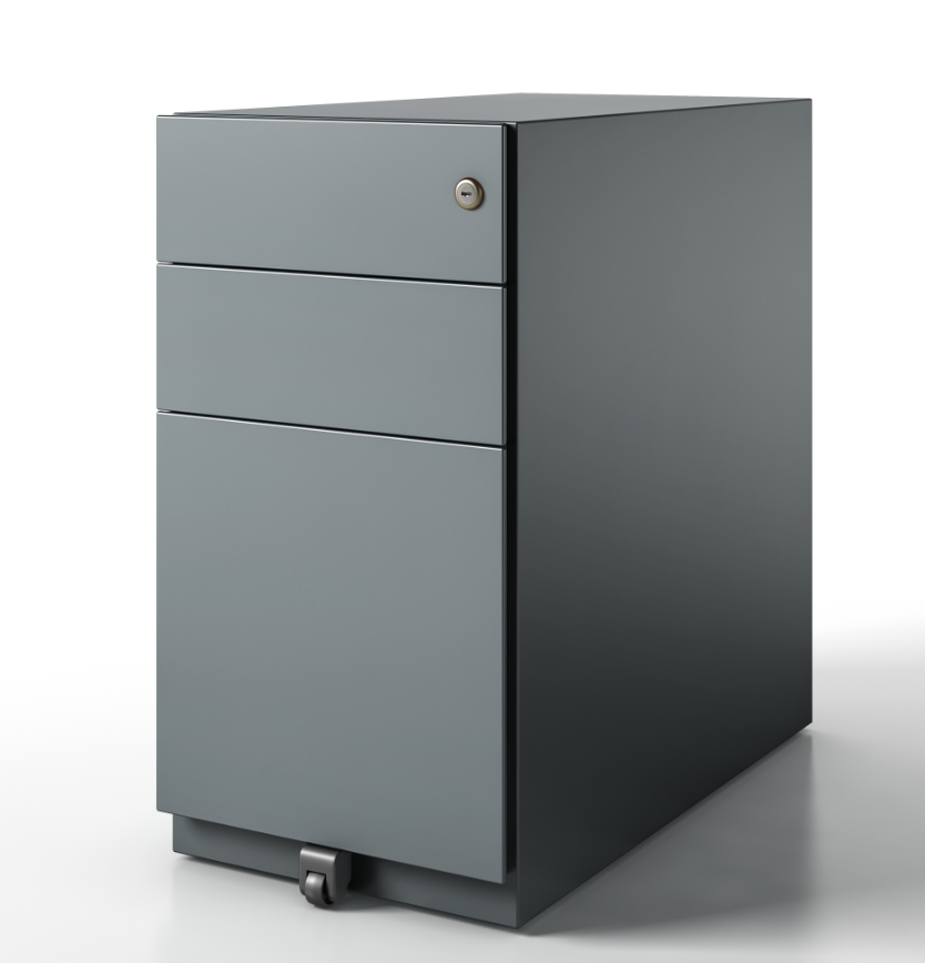 pedestal box file finish grey
