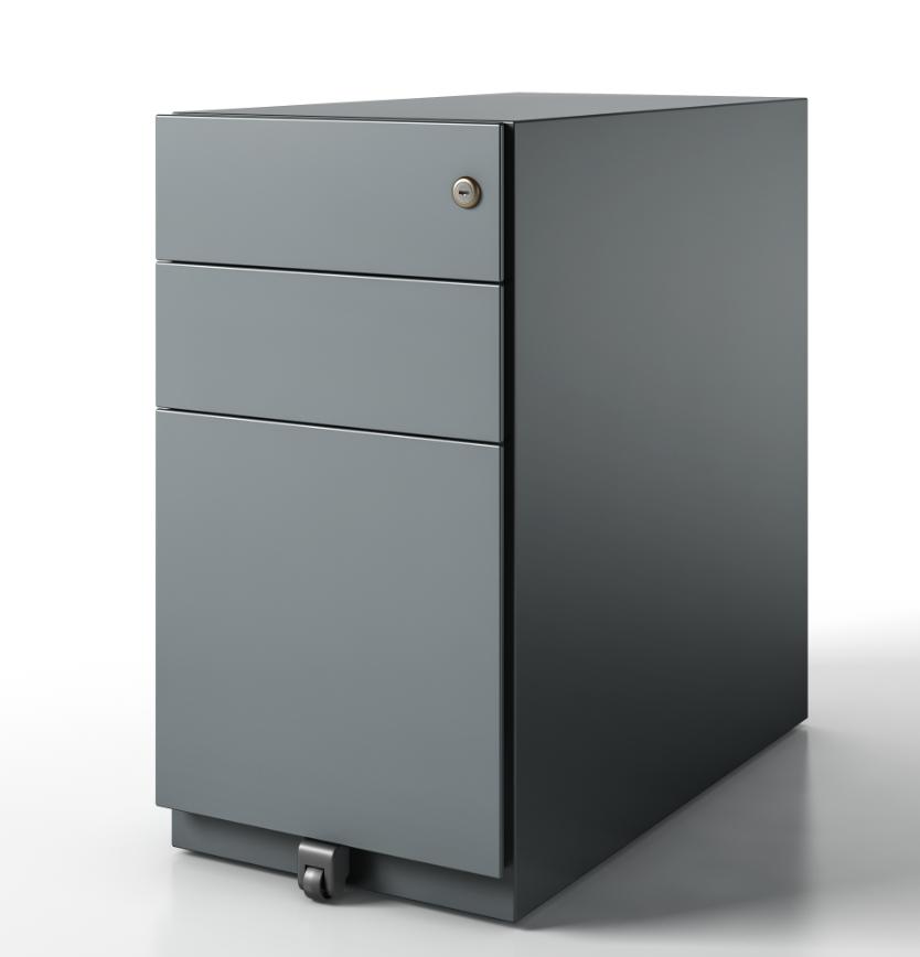 pedestal box file finish grey