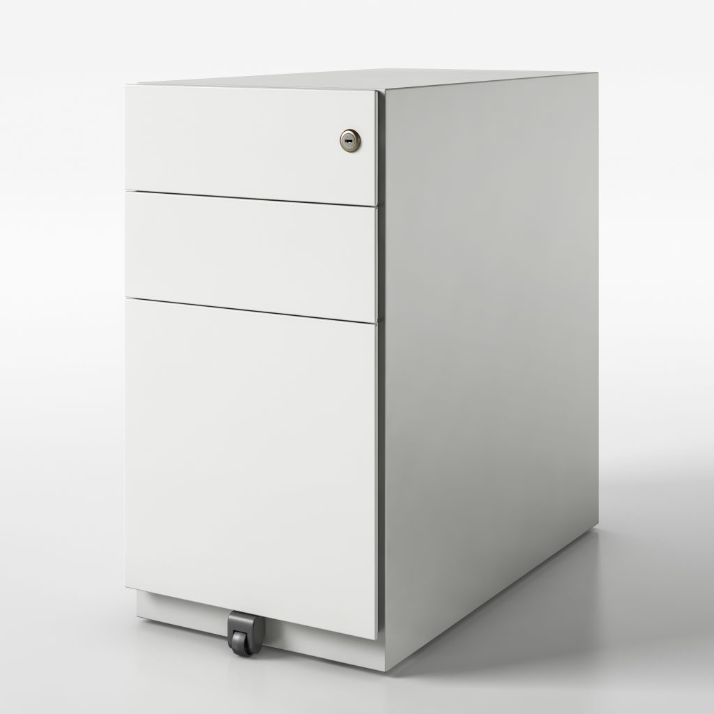 pedestal box file finish off white