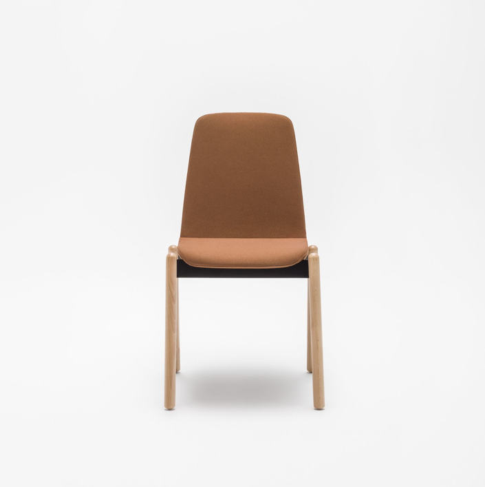 Ulti wooden leg chair brown