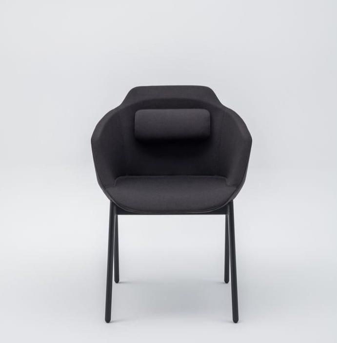 Ultra metal leg chair in black