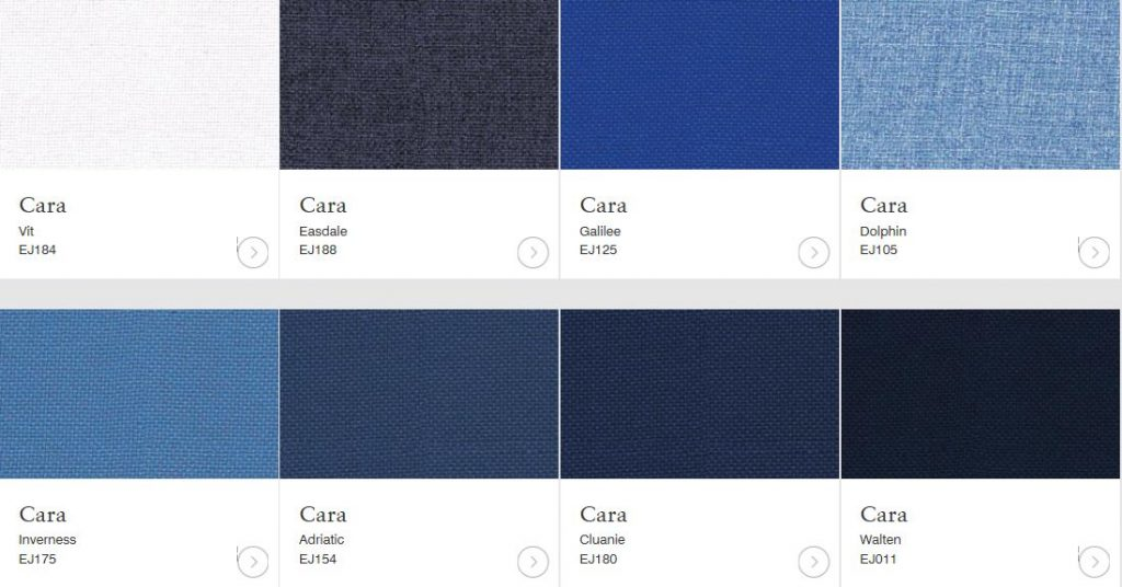 cara blue fabric