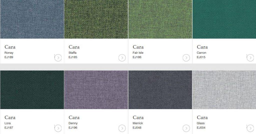 cara fabrics green