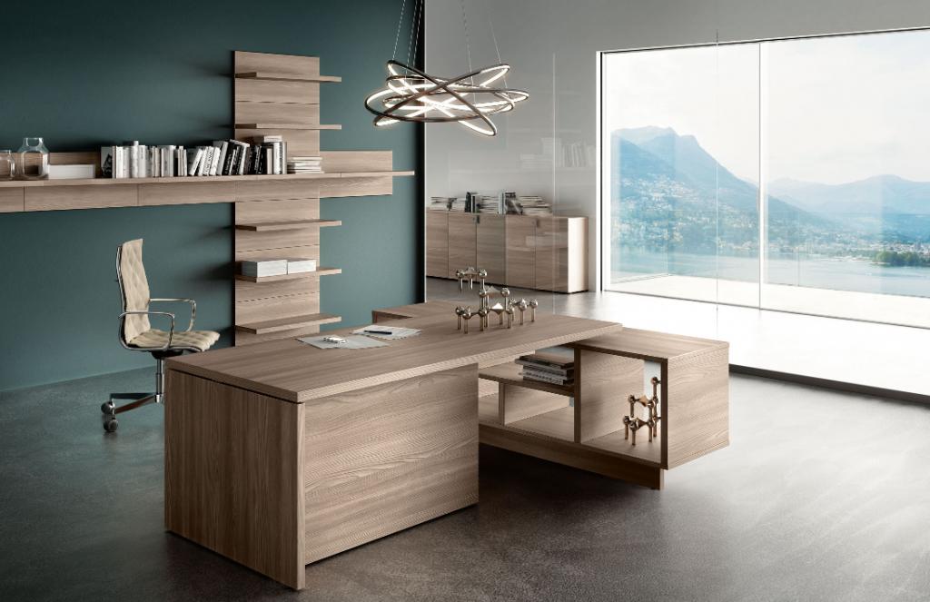 lithos desk oak