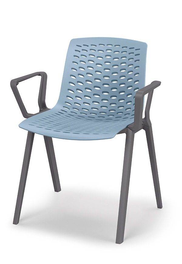 lux chair in blue image of front