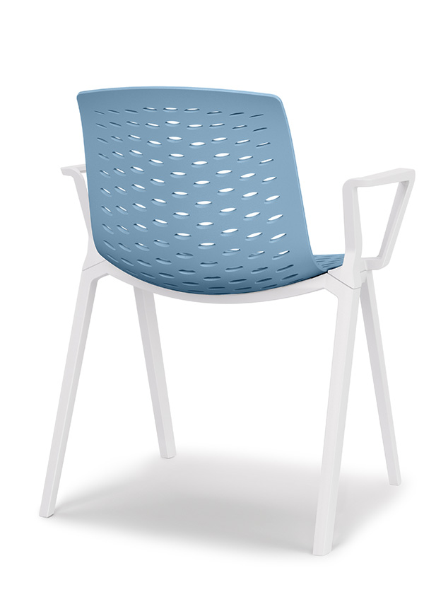 lux chair in blue image of back
