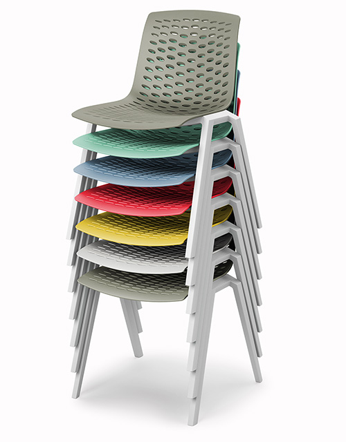 lux chair seven stacked