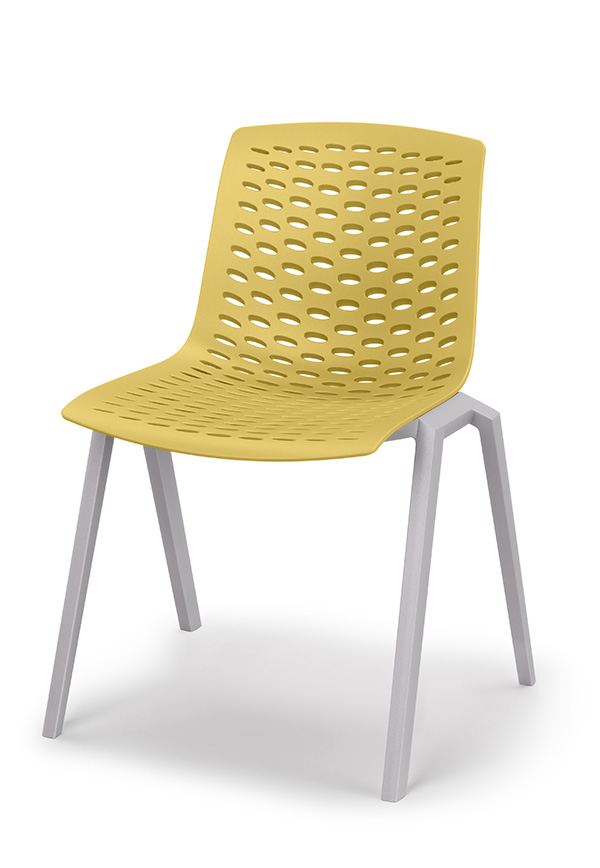 lux chair in muster colour shell