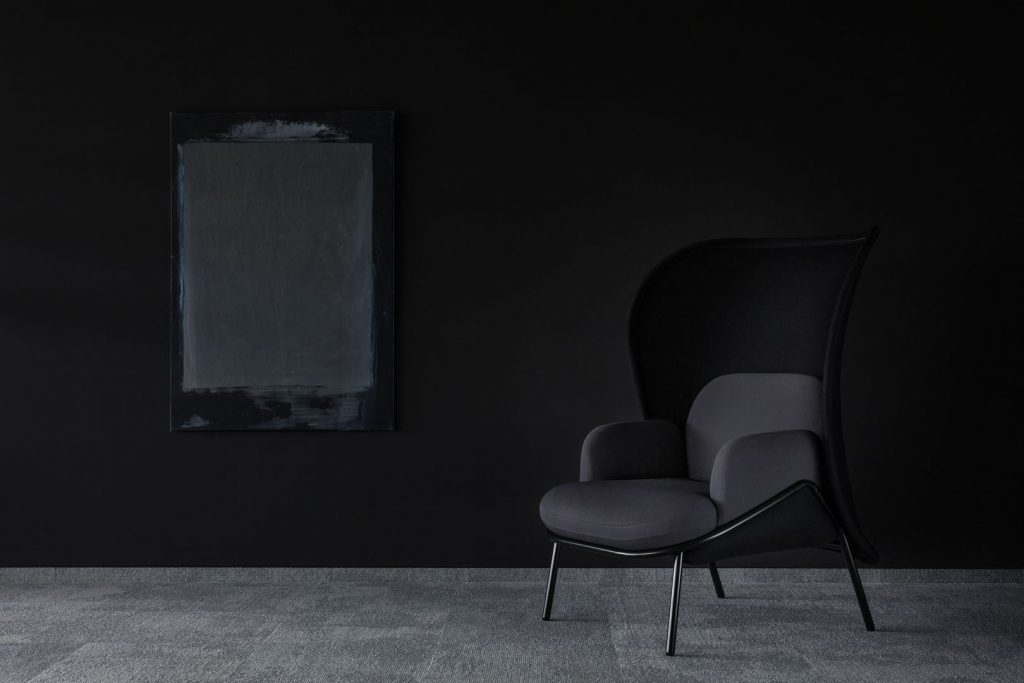 mesh black armchair