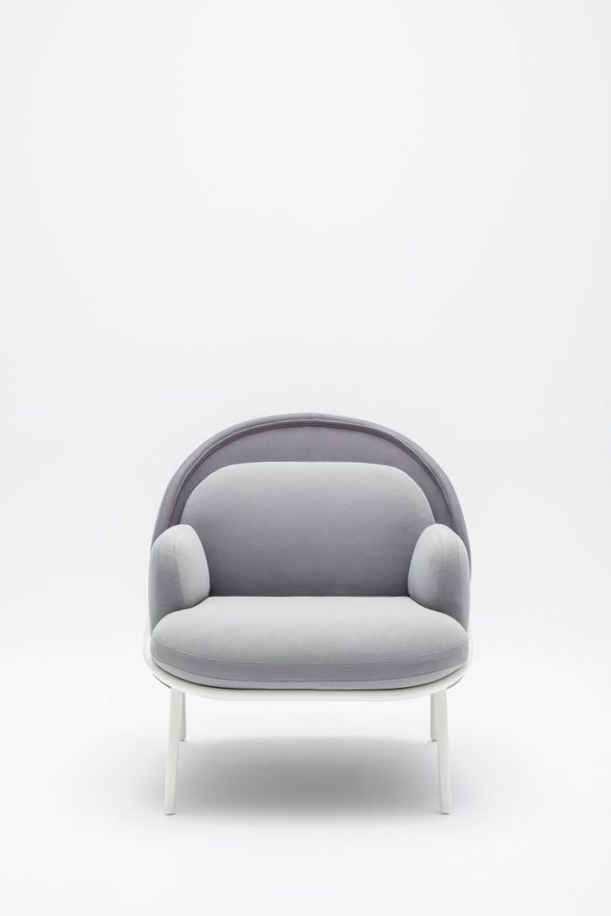 mesh grey armchair