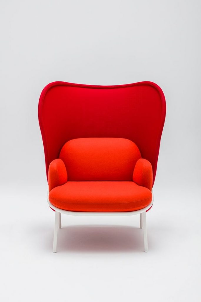 mesh orange armchair