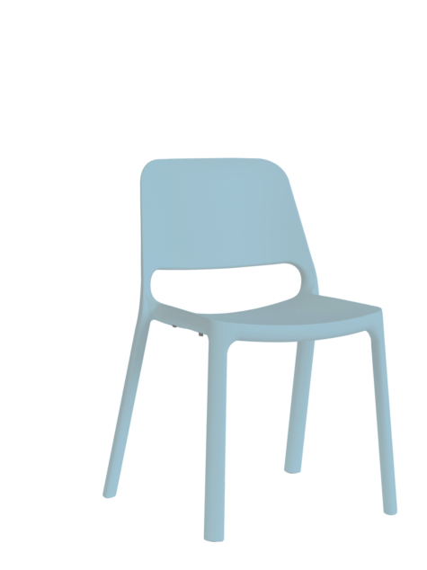 nuke chair no arms blue
