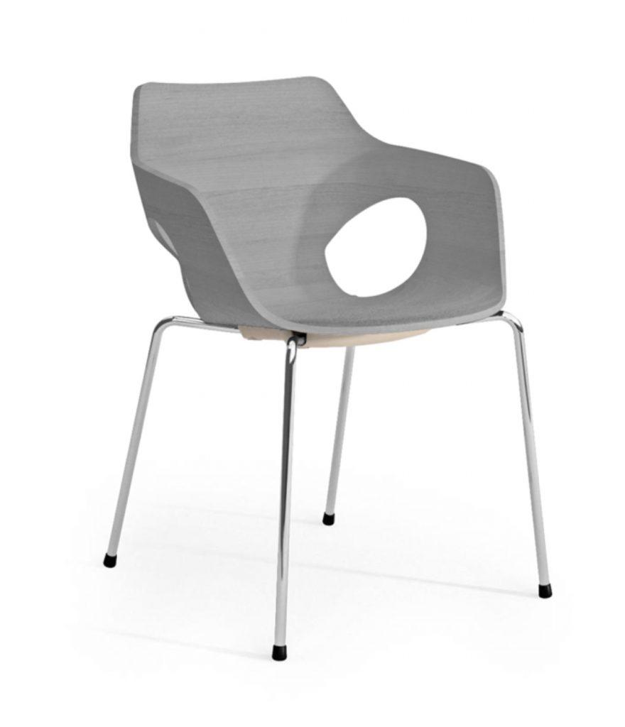 ole grey wood tub chair