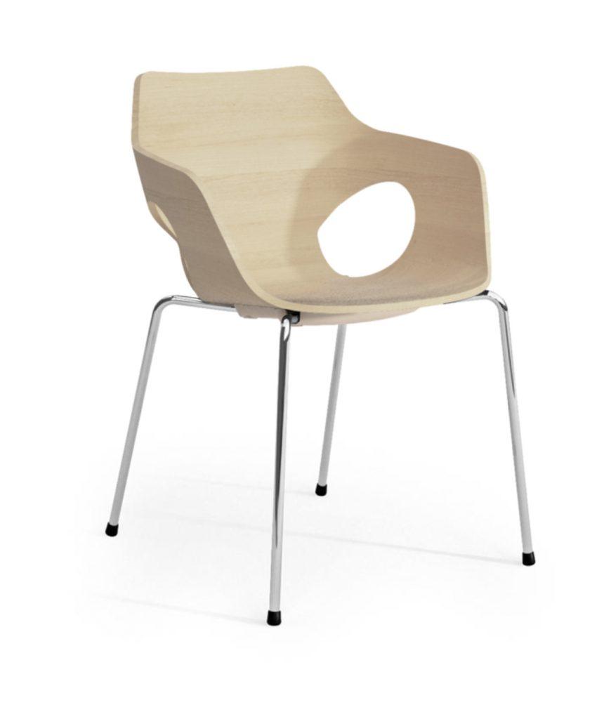 ole maple wood tub chair