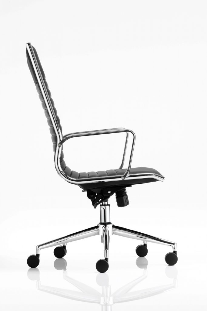 ritz high back chair castor black