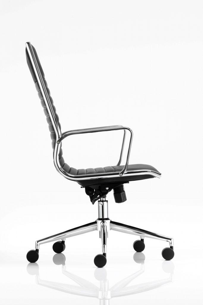 ritz high back chair castor black