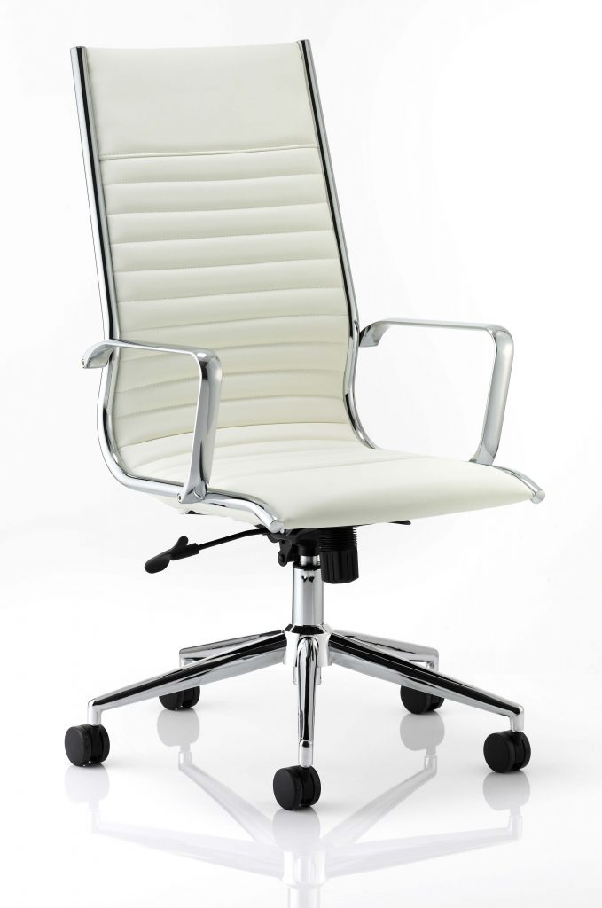 ritz high back chair castor white