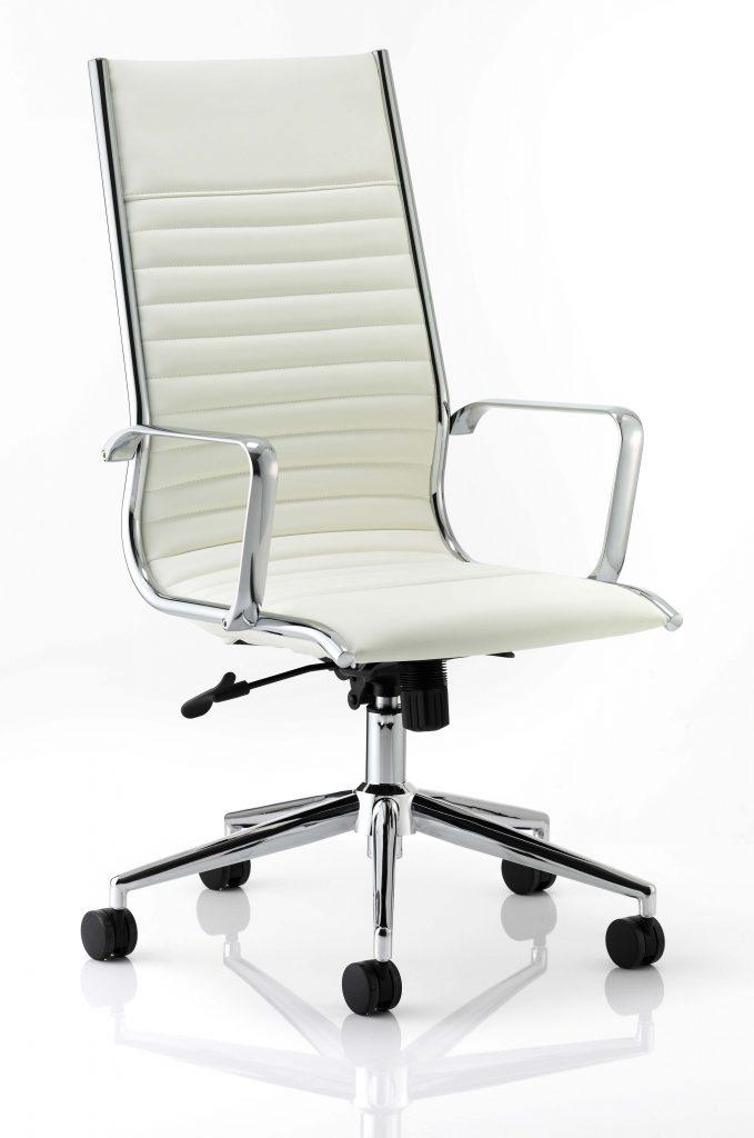 ritz high back chair castor white