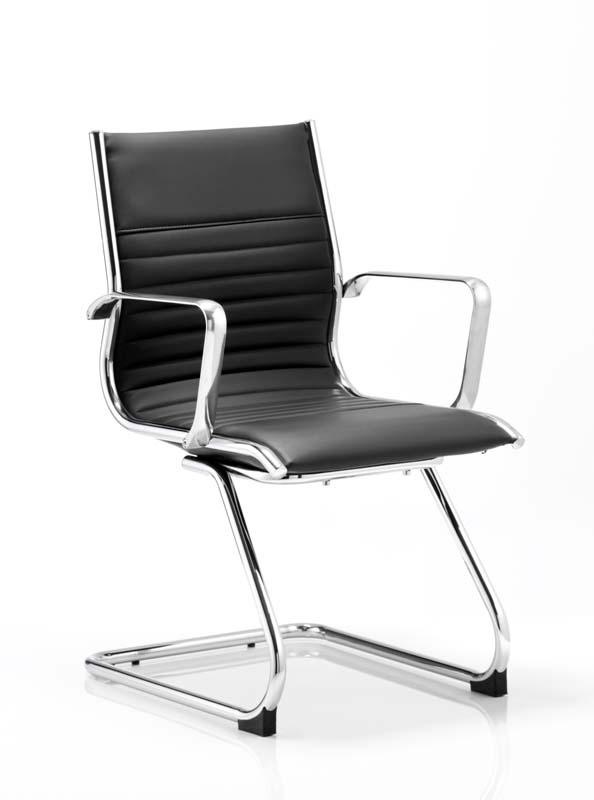 ritz medium back chair castor black