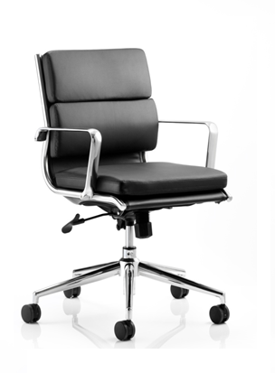 savoy medium task chair black leather