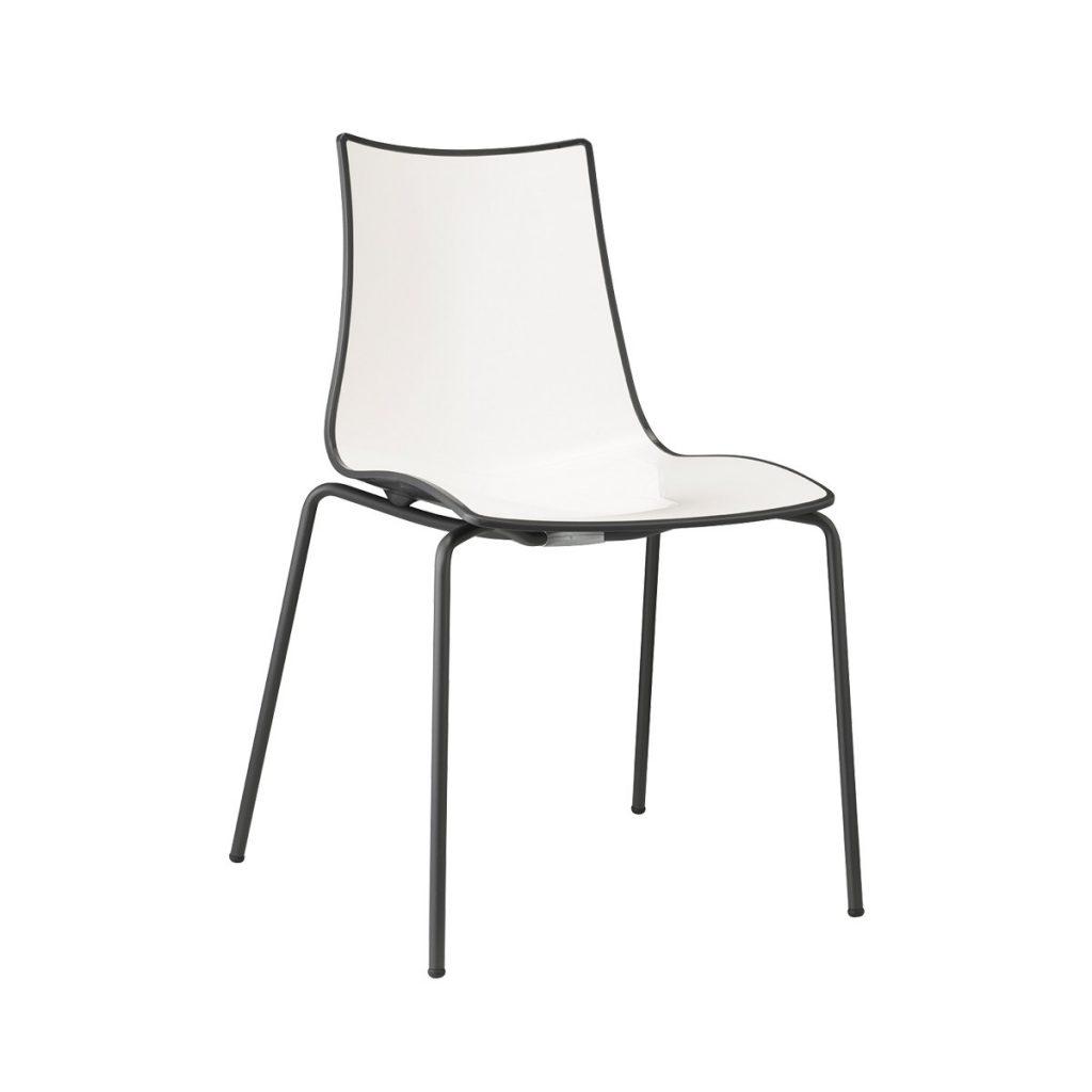 zebra chair white & red