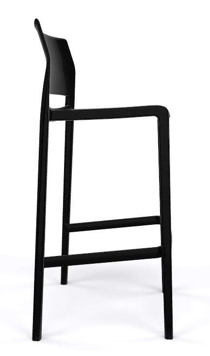 Bakhita stool all black