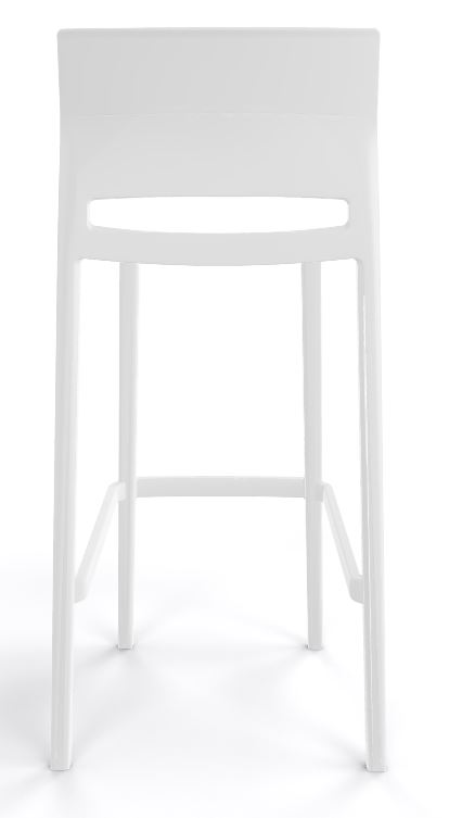 Bakhita stool all white