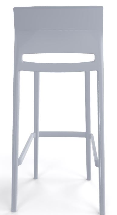 Bakhita stool all light grey