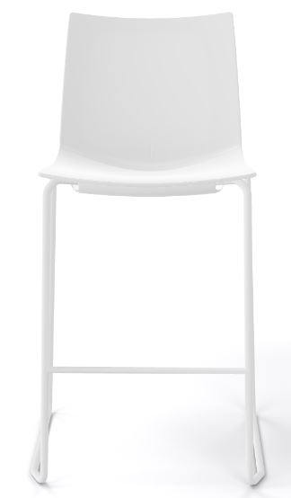 Kanvas stacking stool all white