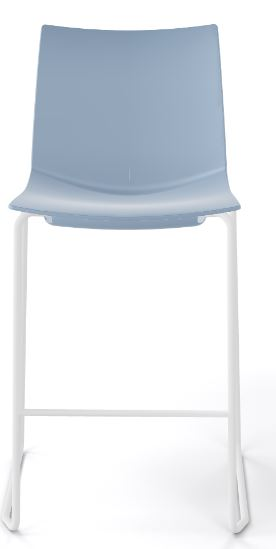 Kanvas stacking stool sky blue