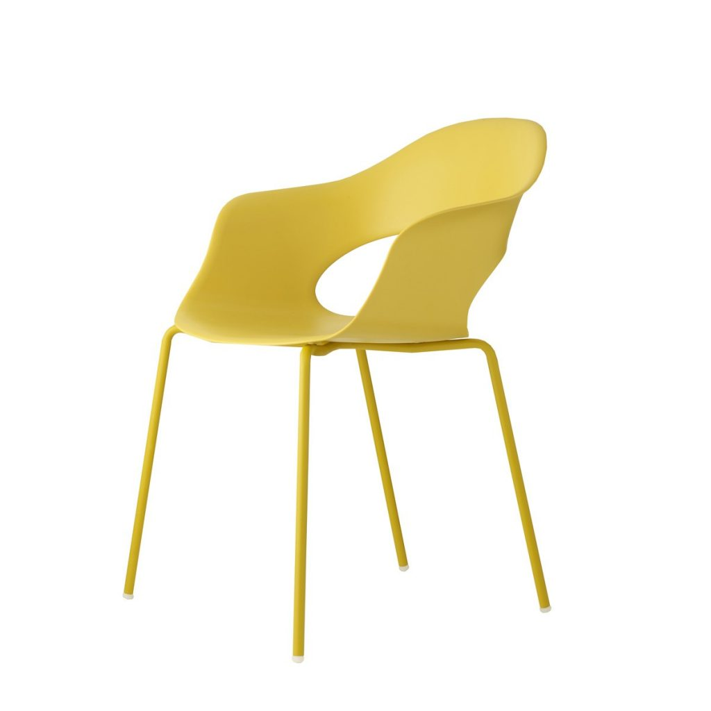 lady b tub chair in yellow