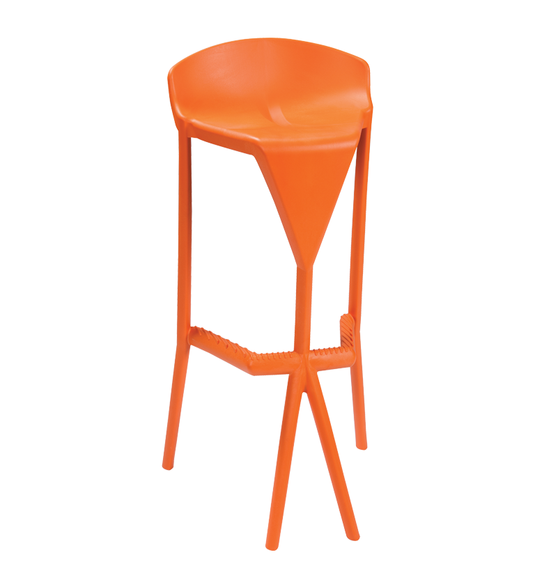 shiver stool orange